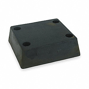 "Rectangular Rubber Dock Bumper, 13""H x 12""W x 4"""
