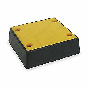 "Square Rubber Dock Bumper, 13""H x 12""W x 4"""