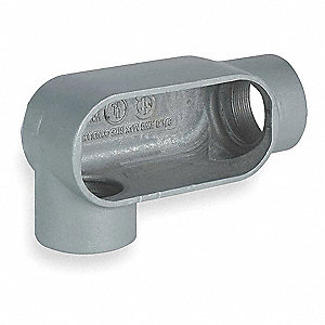 Conduit Outlet Body,Iron,LR,3/4 In.