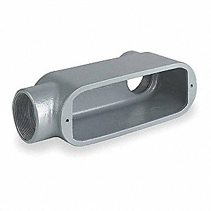 Conduit Outlet Body,Iron,2 In.