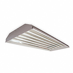 220W Fluorescent High Bay Fixture, 120 to 277VAC Voltage, Suggested Lamp Item No. 4XMJ1
