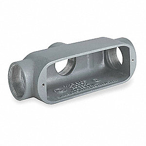 "TB-Style 3/4"" Conduit Outlet Body, Threaded Iron, 7.0 cu. in."
