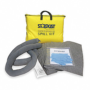 "Chemical, Hazmat Spill Kit, 21""L x 15""W Carrying Bag"