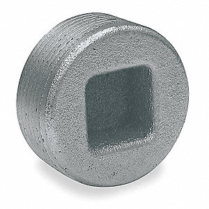 "Recessed Plug, Iron, Male Connection, 1-1/2"" Conduit Size"