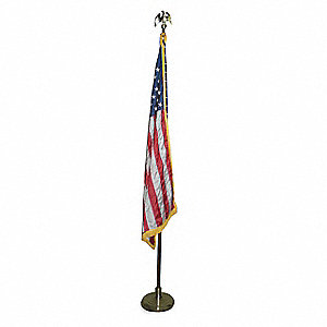 US Parade Flag Set, 4 ft. Height, 6 ft. Width