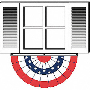 US Bunting Fan,3x6 Ft