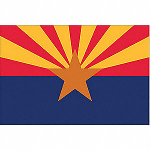 Arizona State Flag, 3 ft. Height, 5 ft. Width