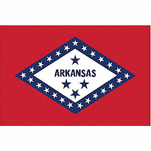 Arkansas State Flag, 3 ft.H x 5 ft.W, Outdoor