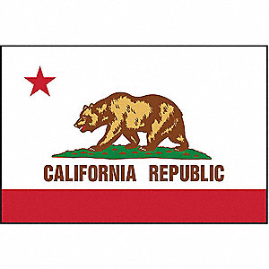 California State Flag, 3 ft. Height, 5 ft. Width