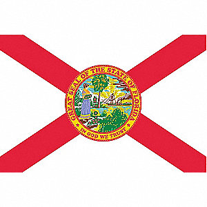 Florida State Flag, 3 ft.H x 5 ft.W, Outdoor