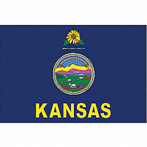 Kansas State Flag, 3 ft.H x 5 ft.W, Outdoor