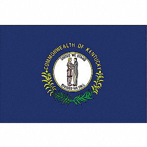 Kentucky State Flag, 3 ft.H x 5 ft.W, Outdoor