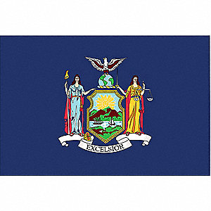New York State Flag, 3 ft. Height, 5 ft. Width