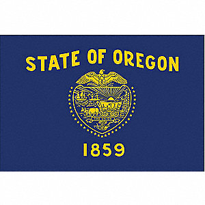 Oregon State Flag, 3 ft. Height, 5 ft. Width