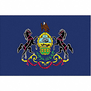 Pennsylvania State Flag, 3 ft. Height, 5 ft. Width