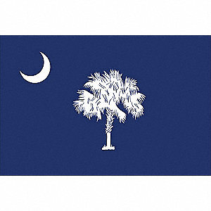 South Carolina State Flag, 3 ft. Height, 5 ft. Width