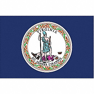 Virginia State Flag, 3 ft. Height, 5 ft. Width