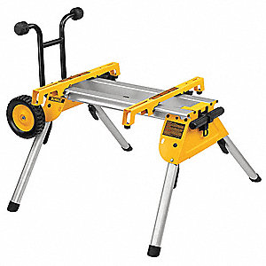 "Table Saw Portable Work Stand, 33-1/2"" Length, 19-3/4"" Width, 10"" Height"