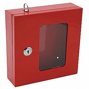 Emergency Lock Box, Single Key, 1 Key Capacity, Mounting Type: Surface