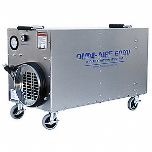 HEPA Negative Air Machine, 1/4 HP, 115 Voltage, 3.5 Amps, 150 to 550 cfm