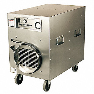 HEPA Negative Air Machine, 1-1/2 HP, 115 Voltage, 9 Amps, 300 to 1900 cfm