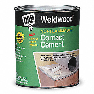 Contact Cement,1 Quart,Non Flammable
