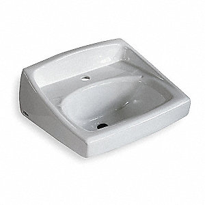 LAVATORY SINK,WALL,CENTER 1 IN,18-1