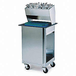 Tray Cart,Stainless,24x20x51