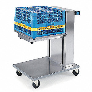 Tray Dispenser Cart, Stainless, 27x24x37