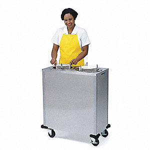 Plate Dispenser Cart, Adj, Heated, 35x20x39