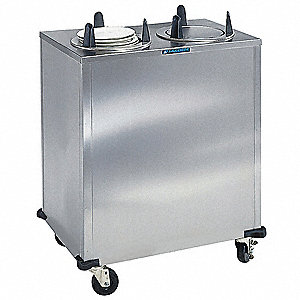 Plate Dispenser Cart, Stainless, 32x19x40
