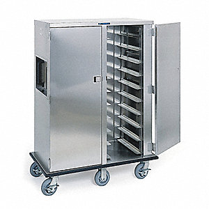 Tray Delivery Cart,Stainless,37x33x64