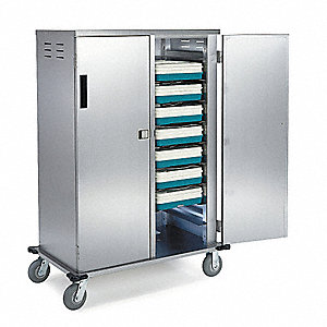 Tray Delivery Cart,Stainless,35x56x53
