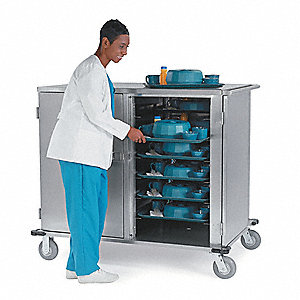 Tray Delivery Cart,Stainless,33x24x58