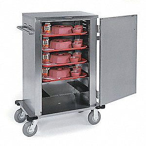 Tray Delivery Cart,Stainless,27x33x63