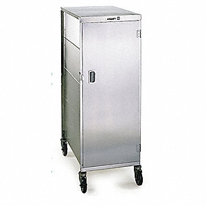 "Tray Delivery Cart,Aluminum,70-1/4""H"