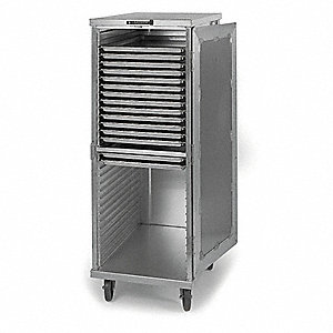 Tray Delivery Cart,Stainless,37x33x59