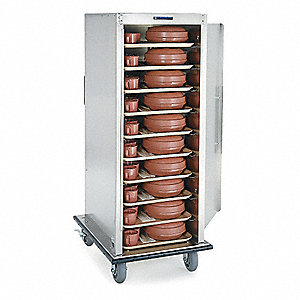 Tray Delivery Cart,Stainless,27x36x56