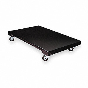 "48""L x 24""W x 7""H Black General Purpose Dolly, 1200 lb. Load Capacity"