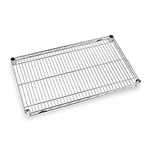 "Wire Shelf,48"" W,30"" D,Chrome Plated"