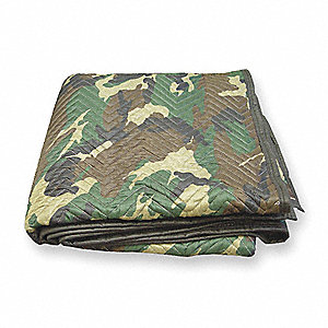 Quilted Moving Pad,72 In. L,Camo,PK12