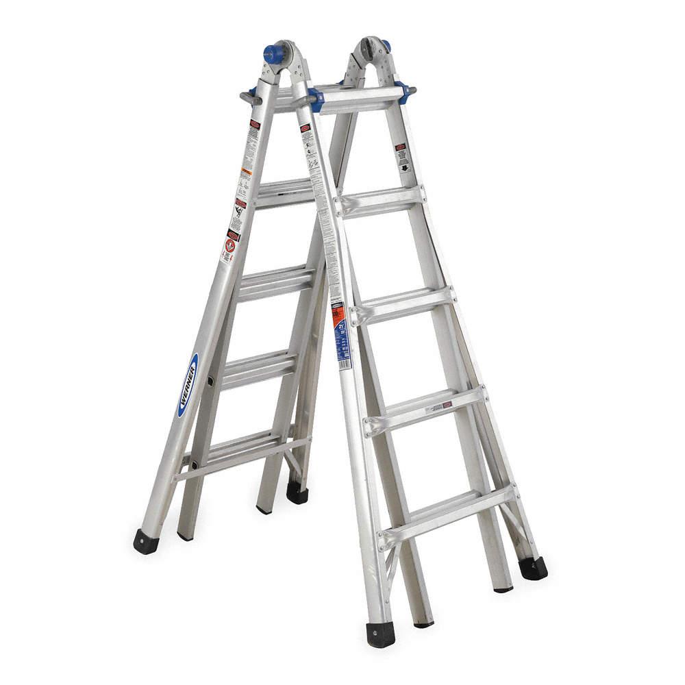 WERNER 22 ft. Aluminum Multipurpose Ladder, 300 lb. Load Capacity ...