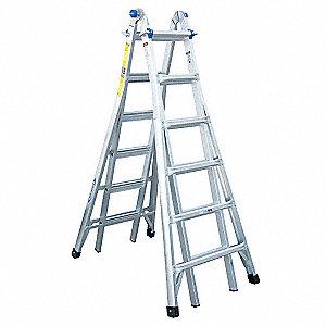 Werner escalera multiusos al 26 pies aluminio escaleras for Escalera multiusos