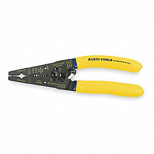 "Cable Stripper,7-3/4"" Overall Length,14 to 12 AWG Capacity,Solid Cable Type"