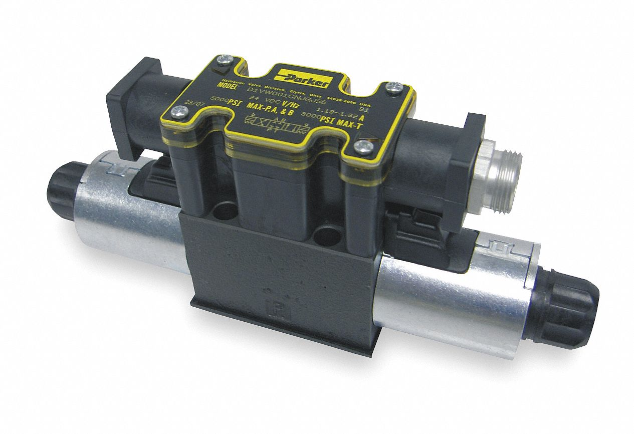 "8.3 in"" x 1.81 in"" x 3.81 in"" Solenoid Operated Hydraulic Directional Valve"