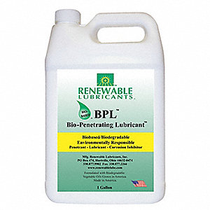 Penetrating Lubricant, -22°F to 295 Degrees F, No Additives, 1 gal. Jug