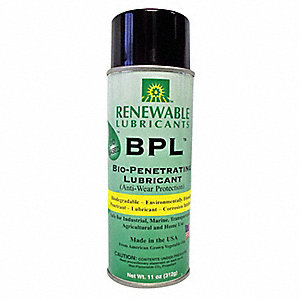 Biobased Penetrating Lubricant, 16 oz. Container Size, 11 oz. Net Weight