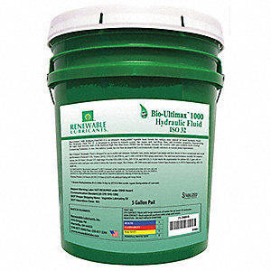 Vegetable Oil Hydraulic Oil, 5 gal. Pail, ISO Viscosity Grade : 32