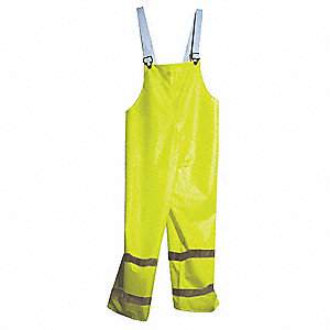 Arc Flash Rain Pants,L,HiVis Yellow