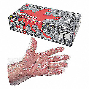 Disp. Gloves,Polyethylene,XL,Clear,PK500